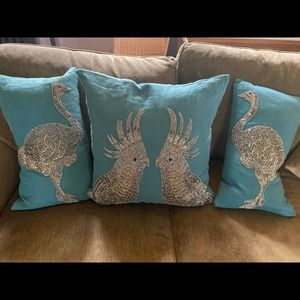 Jonathan Adler beaded zoology pillow set